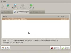 Välj ISO-fil - Klicka för att förstora