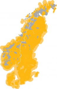 Täckningskarta för Icenet